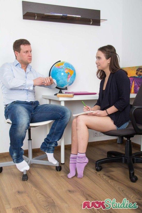 FuckStudies – Jenny Fer – Adorable student spreads legs for hardcore anal