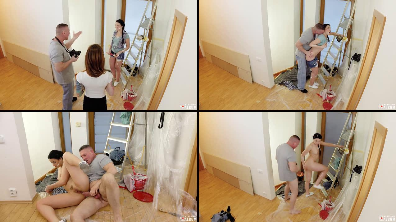 Sexy Russian painter Taissia Shanti gets POV drilling from photographer