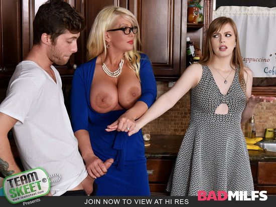 BadMilfs – Dolly Leigh , Allura Jensen – My Step Daughter's Boyfriend