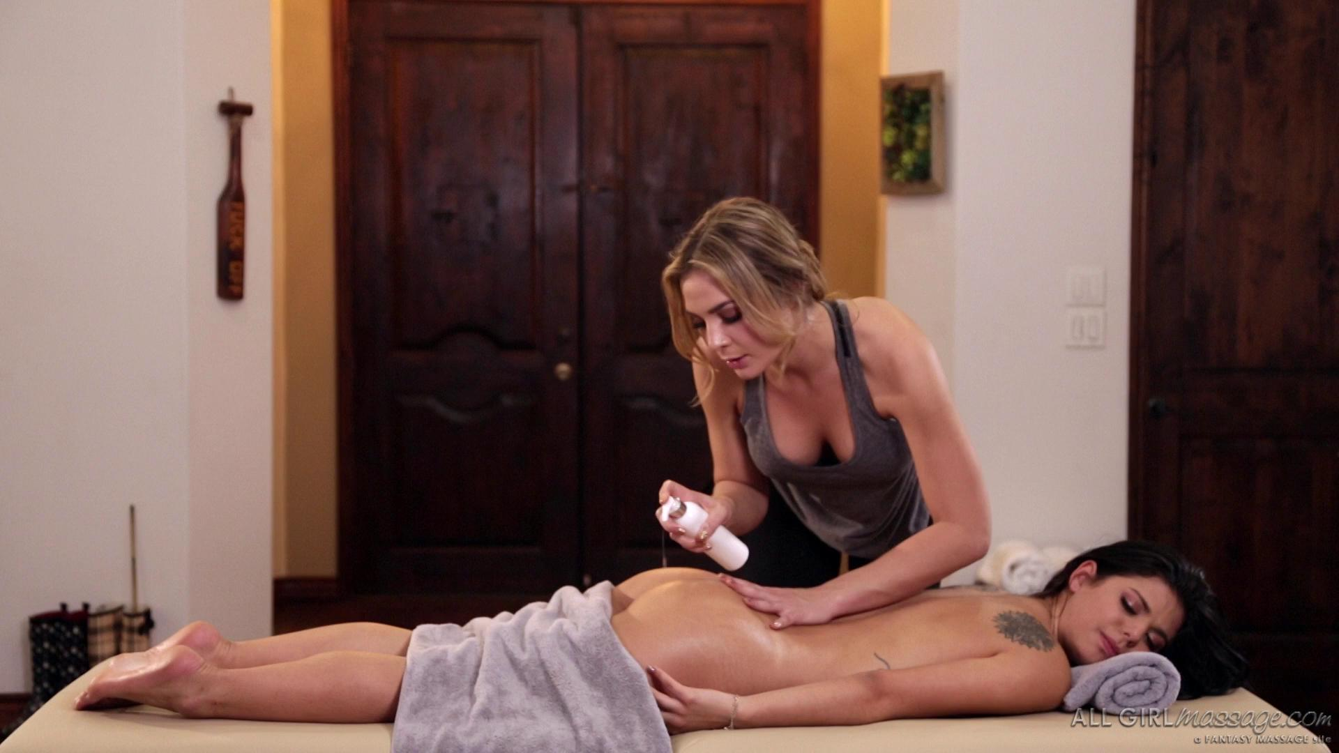 AllGirlMassage – Blair Williams And Gina Valentina Size Matters