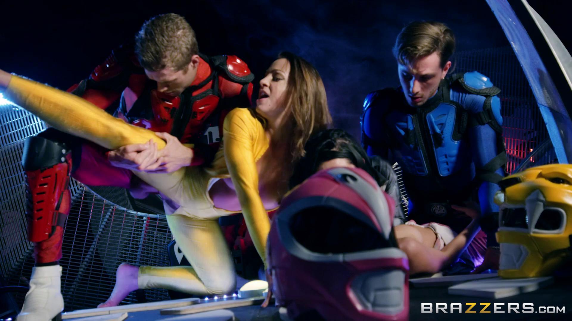ZZSeries – Abigail Mac Katrina Jade And Kimmy Granger Power Bangers A XXX Parody Part 5