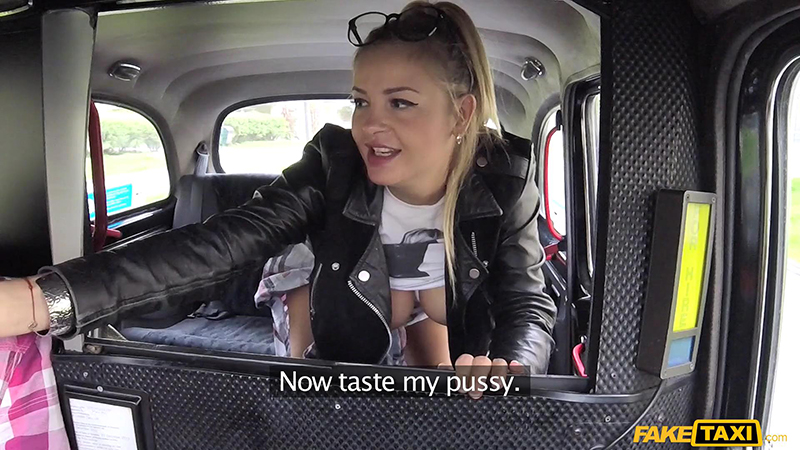 FakeTaxi – Teen Rubs Lollypop On Her Pussy – Candy Alexa