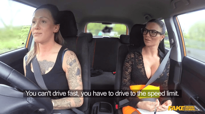 FakeDrivingSchool – Chantelle Fox , Jasmine Jae – Strap On Fun for New Driver