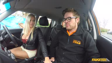 FakeDrivingSchool: Squirting Orgasmic MILF Creampie – Michelle Thorne